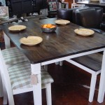Maple Top COUNTRY TABLE with Matching CHAIRS and Maple Top BENCH