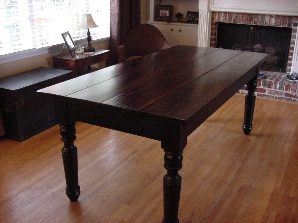 """COUNTRY CHIC"" FARM TABLE Converted To TRADITIONAL FARM TABLE"