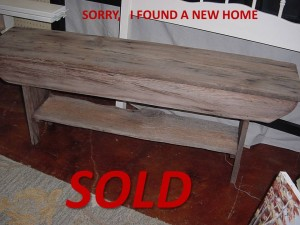 """48"""" RECLAIMED WOOD BENCH"""