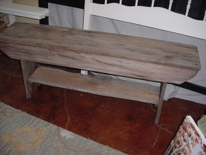 "48"" HAND BUILT 'RECLAIMED WOOD' BENCH"