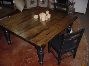 Child's Fun Work Table.. re-purposed coffee table with kids chairs