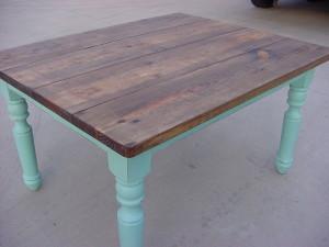 "CUSTOM 'RUSTIC' PORCH TABLE (44"" X 54"")"