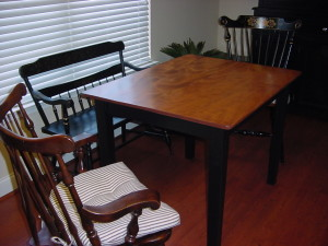 "Custom ""CHERRY TOP"" Small Table built to Customer Specifications"