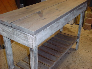 "Outdoor-Indoor Buffet Bar Table (19"" x 54"")"