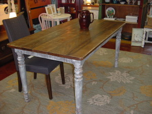 "RUSTIC FARM TABLE (34"" X 66"")- SEATS SIX"