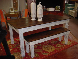 RUSTIC FARMHOUSE TABLE & BENCH