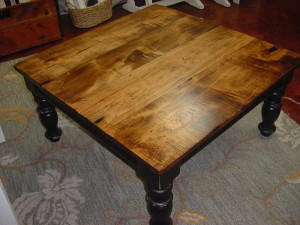 MAPLE TOP MAN CAVE COFFEE TABLE