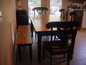 Custom Farmhouse Table w/ Matching Bench