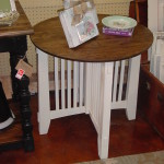 "STAINED TOP 28"" ROUND SIDE TABLE (26.5"" tall)"