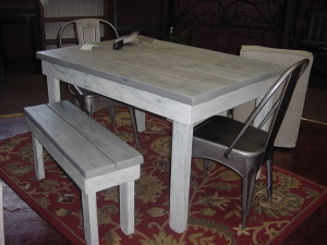 Handmade Farmhouse Style Table w/ Matching Bench