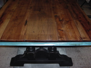 """""""Old Hickory"""" Trestle Table in Construction"""