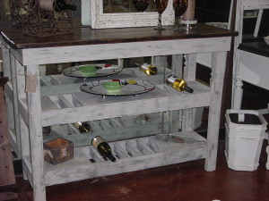 "18"" x 52"" Oak Top Wine Bar - Buffet Table"