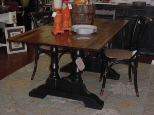 """OLD HICKORY"" TRESTLE TABLE (35""X66"")"