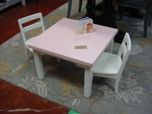 Little Girl's Table and 2 Chair Set