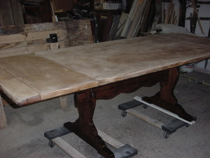 "FIRE STATION DINING TABLE (38"" X 100"") ..partially Refinished"