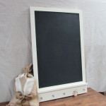 CHALKBOARD w/ Chalk Tray and Key Hooks