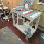 DISTRESSED BEAD BOARD TOP CONSOLE / ENTRY TABLE