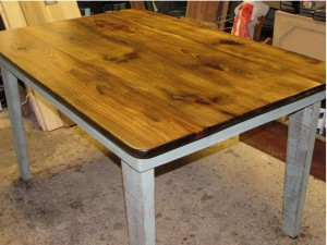ALL WOOD FARMHOUSE EATING TABLE
