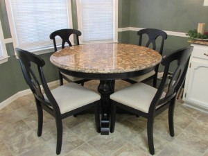 FINAL GRANITE TOPPED PEDESTAL TABLE