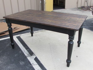 Ash Table w/ Black Apron and Legs