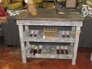 """ROUGH CUT ASH TOP"" WINE BAR BUFFET TABLE"