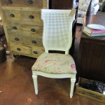 MESH BACK UPHOLSTERED CHAIR