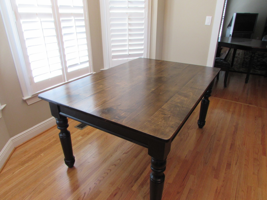 "CUSTOM FARM KITCHEN TABLE (42"" x 62"")"