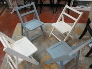 FOLDING, ALL WOOD, CHILDREN'S CHAIRS