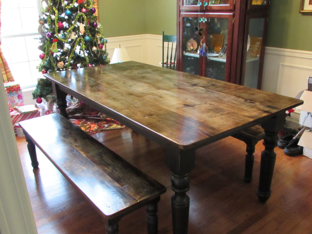 FARM TABLE w/ MATCHING BENCHES- Left Side