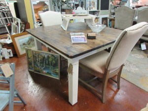 SQUARE FARMHOUSE TABLE in BOOTH 47 / 469 -ENCORE RESALES