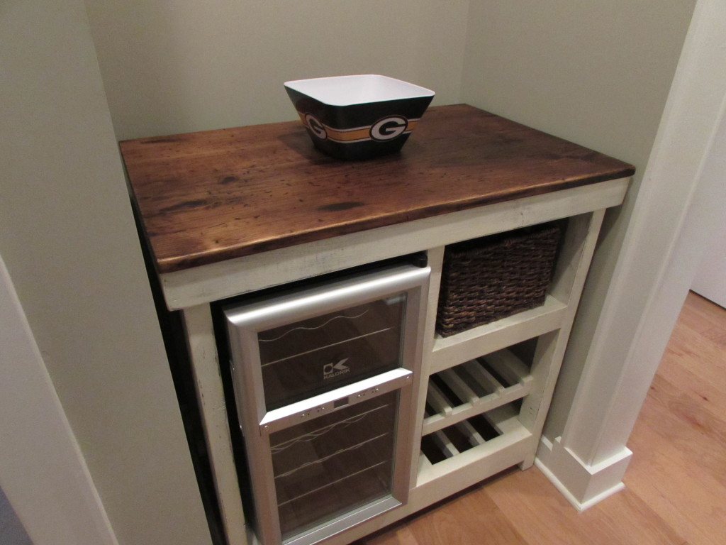 "CUSTOM WINE BAR-BUFFET TABLE (Approx. 23"" x 36""x 36"")"