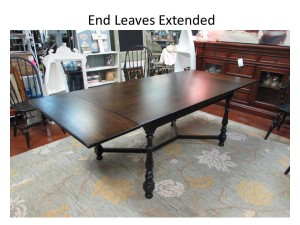 "ETHAN ALLEN TABLE With PULL-OUT LEAVES (38"" X 89"")"
