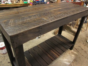 """Construction"" PALLET LUMBER ISLAND-CONSOLE-BAR TABLE"