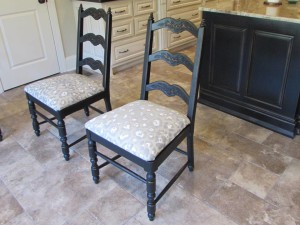 REFINISHED and RE-UPHOLSTERED CHAIRS