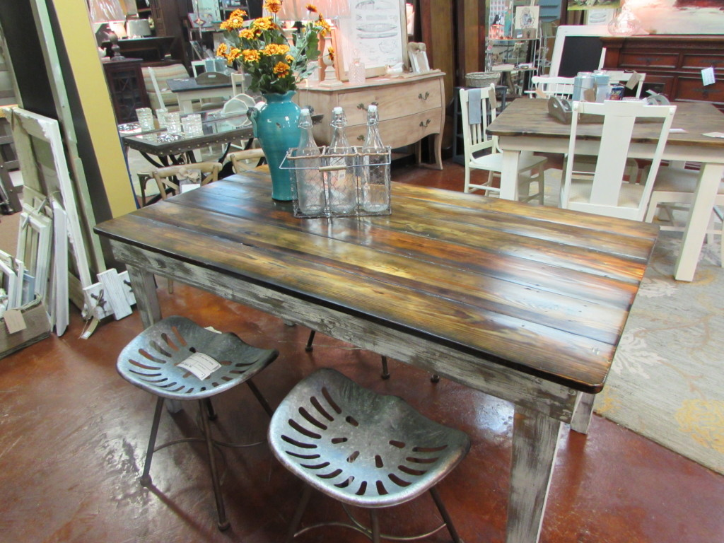 "REAL RECLAIMED WOOD FARM TABLE (33"" X 60"")"