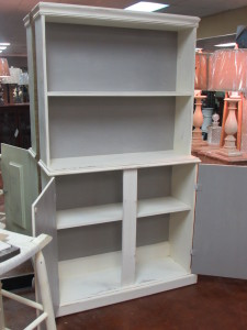 FARMHOUSE CUPBOARD WITH OPEN & HIDDEN STORAGE