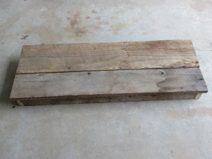 "BARN WOOD TOP for WINE BAR - BUFFET TABLE (15.5"" X 42"")"