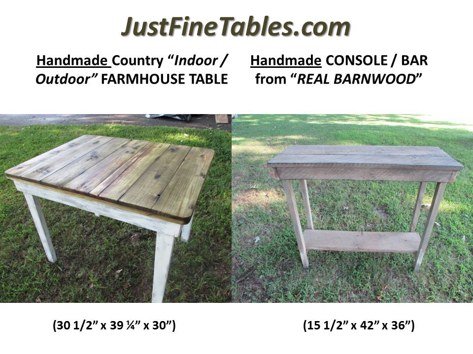 FARM TABLE & BARN WOOD CONSOLE/BAR