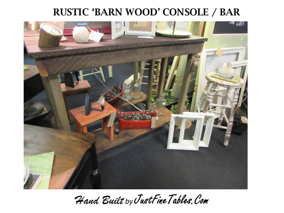 RUSTIC 'BARN WOOD' CONSOLE / BAR