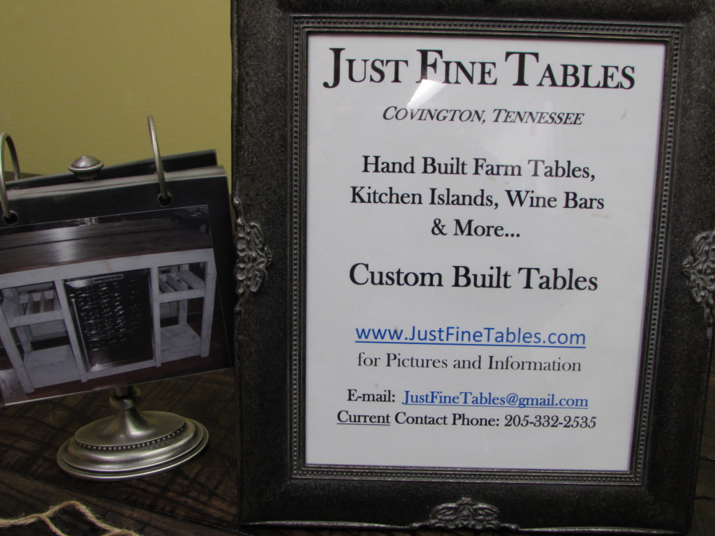 CUSTOM FARM TABLE CONTACT INFORMATION