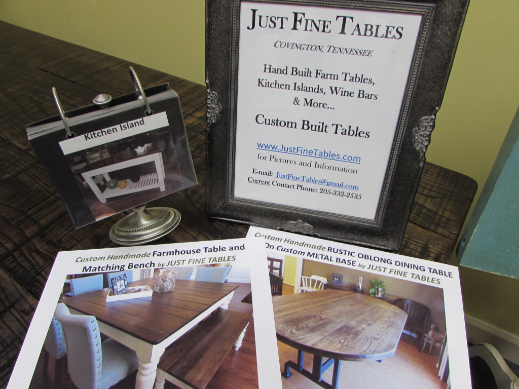 JUST FINE TABLES CONTACT INFORMATION
