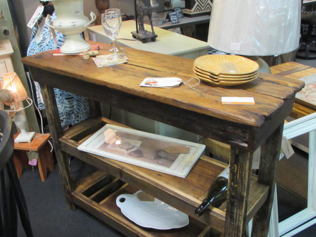 RUSTIC 'BARNWOOD' WINE BAR BUFFET TABLE