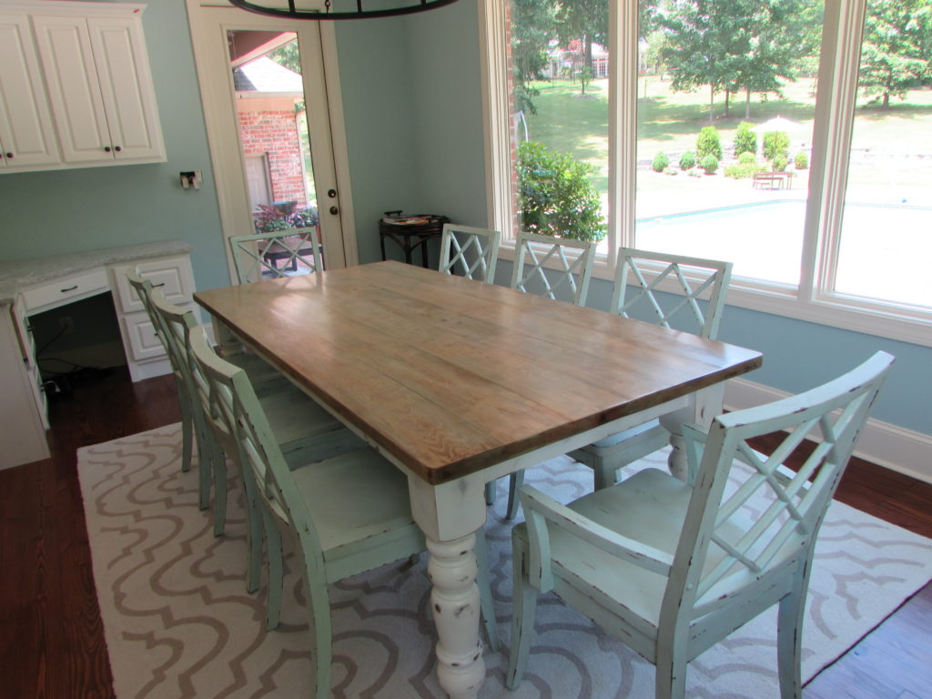 "CUSTOM FARMHOUSE FARM TABLE (42"" X 90"")"