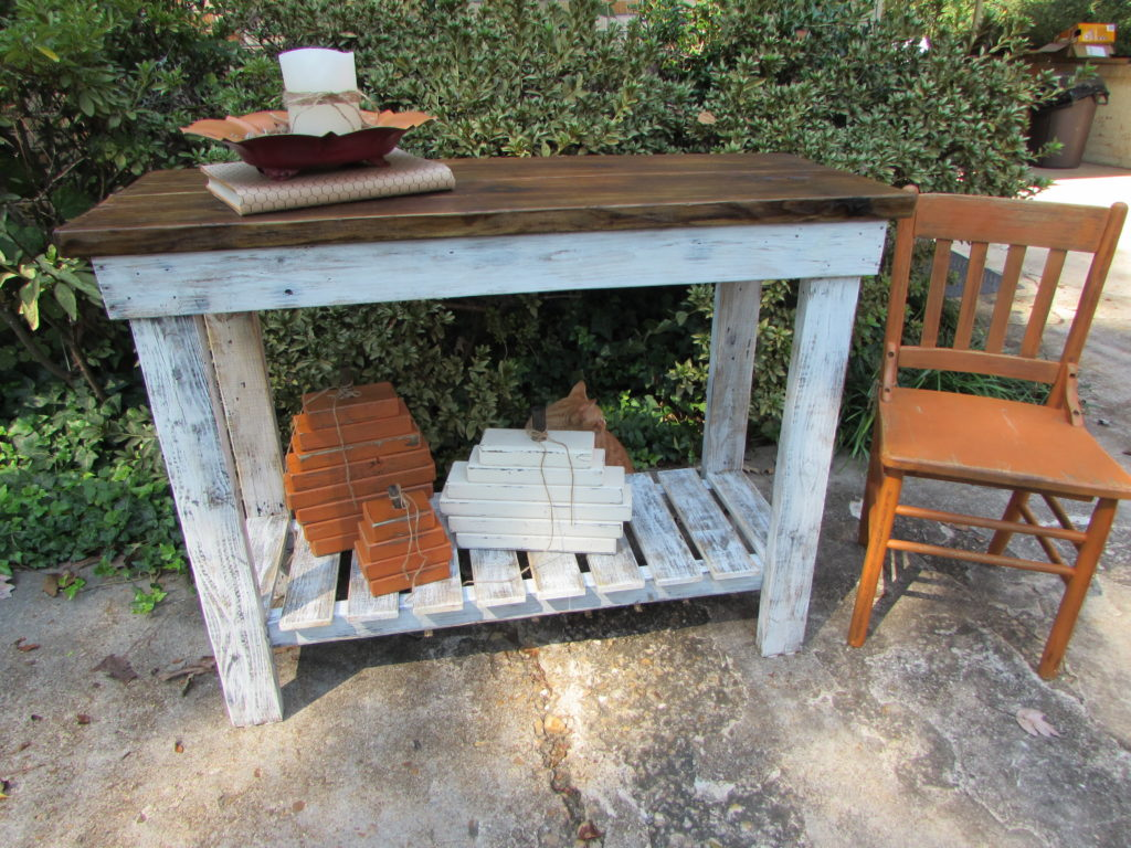 RECLAIMED WOOD BUFFET BAR TABLE ISLAND
