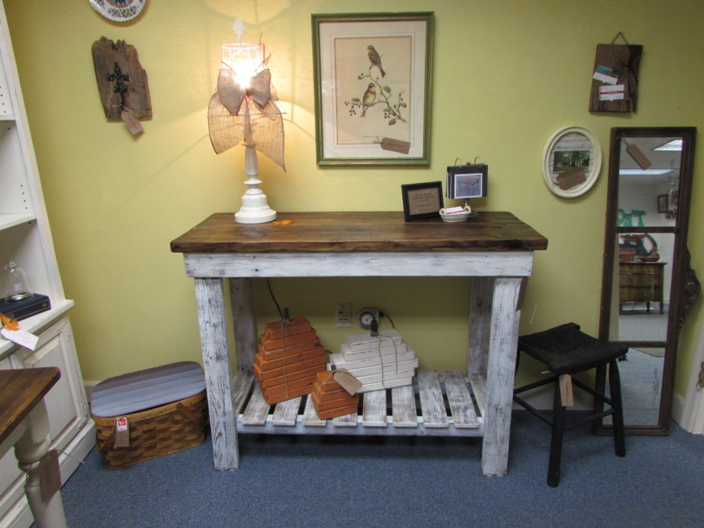 "RECLAIMED WOOD INDOOR-OUTDOOR BUFFET CONSOLE (19"" x 48"" x 36"")"