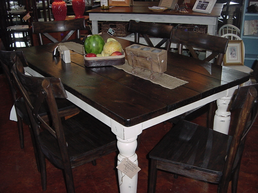 Beau HANDMADE U201cCountry Chicu201d Thick Pine Top FARM TABLE