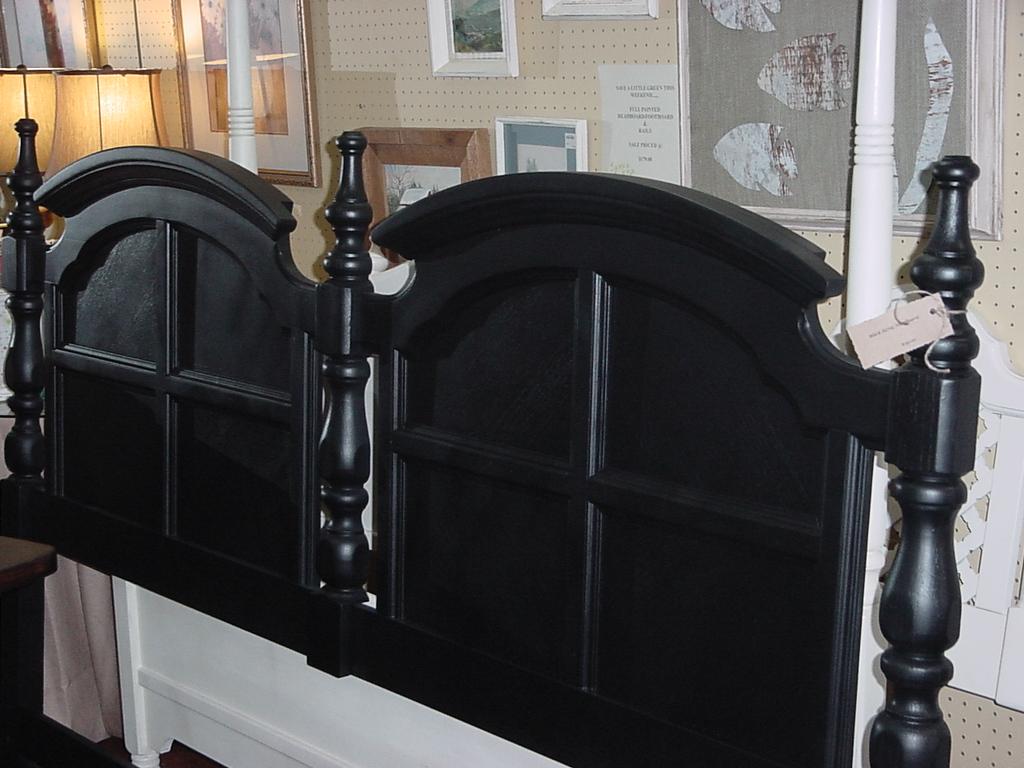 black king headboard just tables