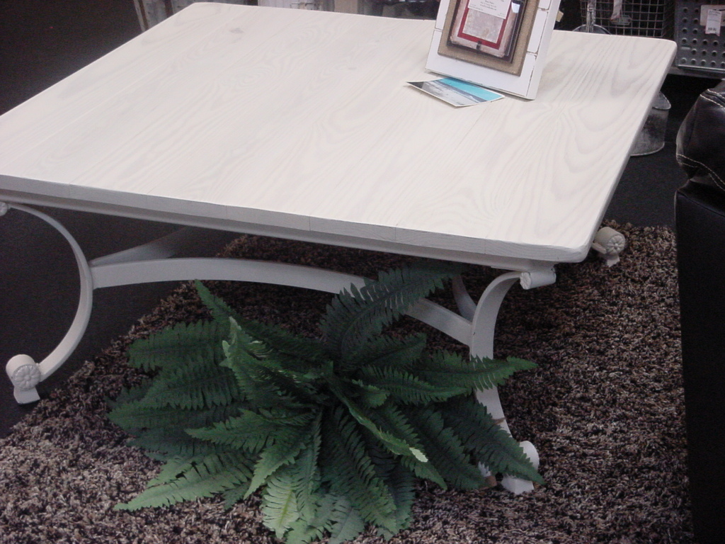 Indoor outdoor coffee table on heavy decorative metal for Sideboard 09003