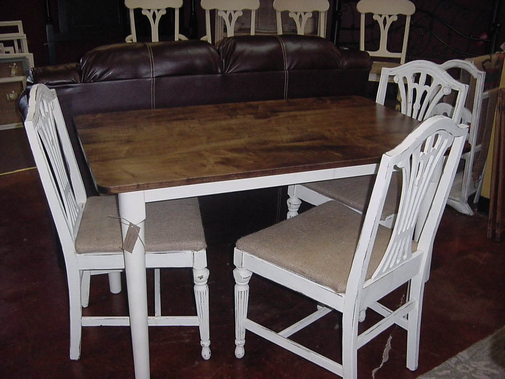 32 u2033 x 50 u2033 cottage white country table and chair set