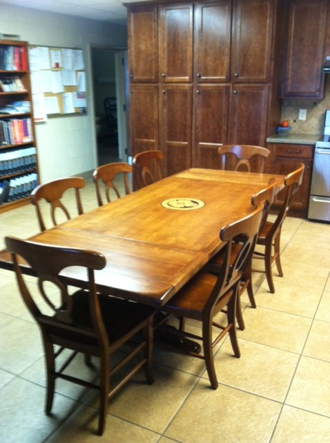 Refinished Fire Station U0027Ethan Allenu0027 Trestle Table